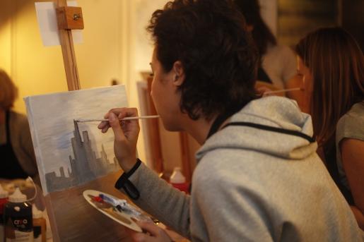 Atelier peinture concentration
