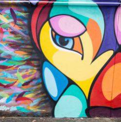 Une oeuvre de street art XXL