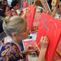Atelier interculturel et abstrait
